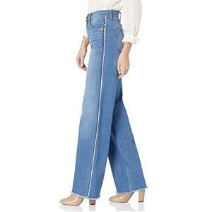 Anthro Ella Moss Wide Leg Frayed Jeans